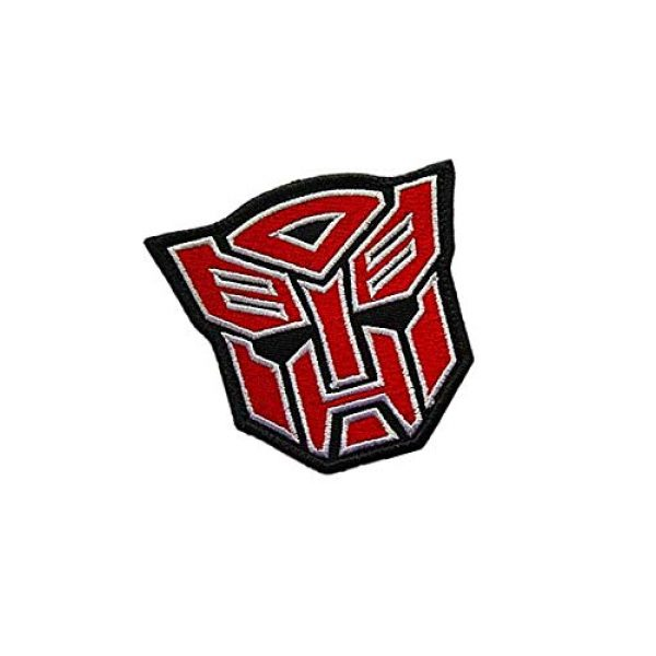 Embroidery Patch Airsoft Morale Patch 2 Superhero Transformers Autobot Military Hook Loop Tactics Morale Embroidered Patch (color1)