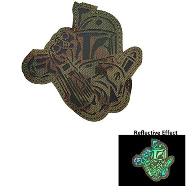 APBVIHL Airsoft Morale Patch 4 4 Pack Infrared IR Reflective Star Wars Mandalorian This is The Way Full Helmet Patch - Fastener Hook and Loop Backing Tactical Military Morale Appliques Emblem Badges