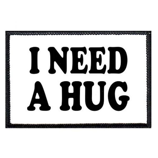 P PULLPATCH Airsoft Morale Patch 1 I Need A Hug Morale Patch | Hook and Loop Attach for Hats, Jeans, Vest, Coat | 2x3 in | by Pull Patch