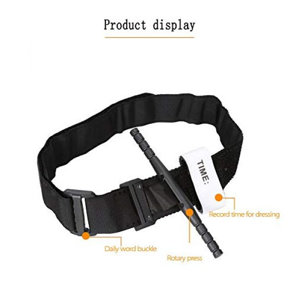 ActionUnion Tactical Pouch 2 Medical Tourniquet with TQ Holder Pouch Case Set for Belt Attachment First Aid Tactical Bandage Medic Swat Pre-Hospital Life Saving Hemorrhage Control Registration Card