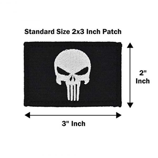 Great 1 Products Airsoft Morale Patch 4 Tactical-Black Flag Patch 4-Pack Set, 2x3 inch, Embroidered, Hook and Loop, Military and Tactical Accessory for Clothing-Jackets-Hats-Backpacks (Set 1)