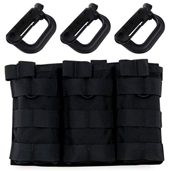 Aoutacc Tactical Pouch 1 Aoutacc Tactical Magazine Pouch Holder MOLLE Triple Open-Top Mag Pouch with D-Ring Grimlock Locking for M4 M16 AR-15 Magazines