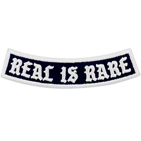 EmbTao Airsoft Morale Patch 1 Real is Rare Patch Embroidered Biker Applique Iron On Sew On Emblem