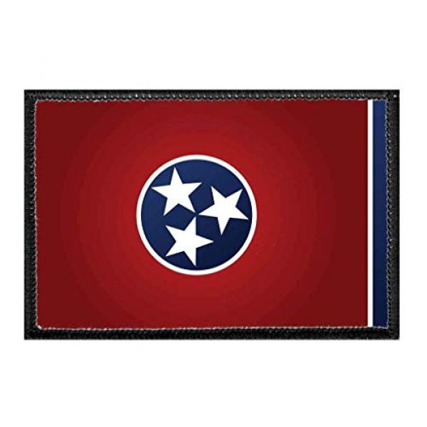 P PULLPATCH Airsoft Morale Patch 1 Tennessee State Flag - Color Morale Patch | Hook and Loop Attach for Hats, Jeans, Vest, Coat | 2x3 in | by Pull Patch
