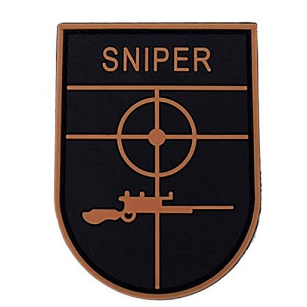 Tactical PVC Patch Airsoft Morale Patch 1 Urban Combat Sniper PVC Military Tactical Morale Patch Badges Emblem Applique Hook Patches for Clothes Backpack Accessories