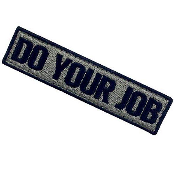 EmbTao Airsoft Morale Patch 4 Do Your Job Embroidered Patch Tactical Morale Applique Fastener Hook & Loop Emblem, Olive & Black