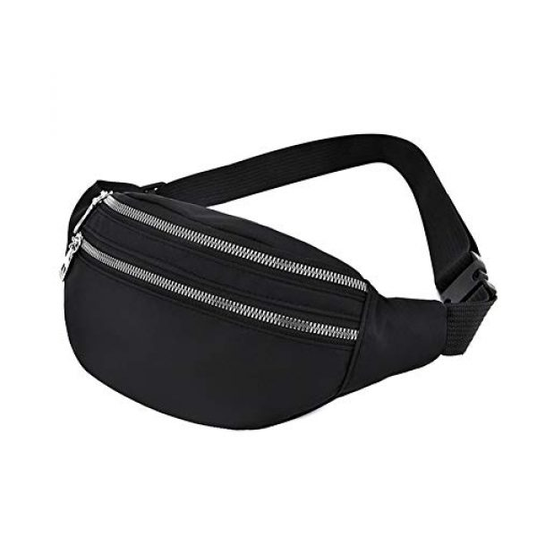 GEZICHTA Tactical Pouch 4 GEZICHTA Bum Bag Waist Fanny Pack for Men Women Unisex Bumbag Oxford Cloth Waist Bag Adjustable for Outdoor Sports Workout Hiking