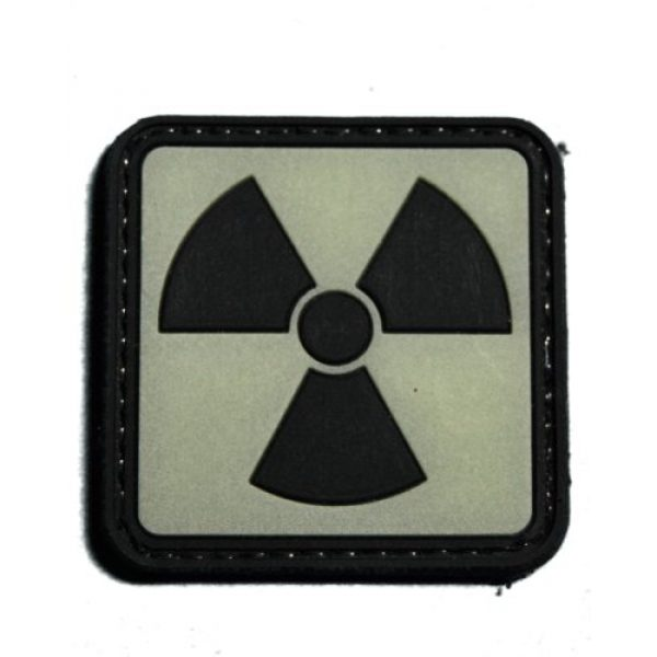 Tactical Morale Gear Airsoft Morale Patch 1 Glow in the Dark Radioactive Morale patch with reverse