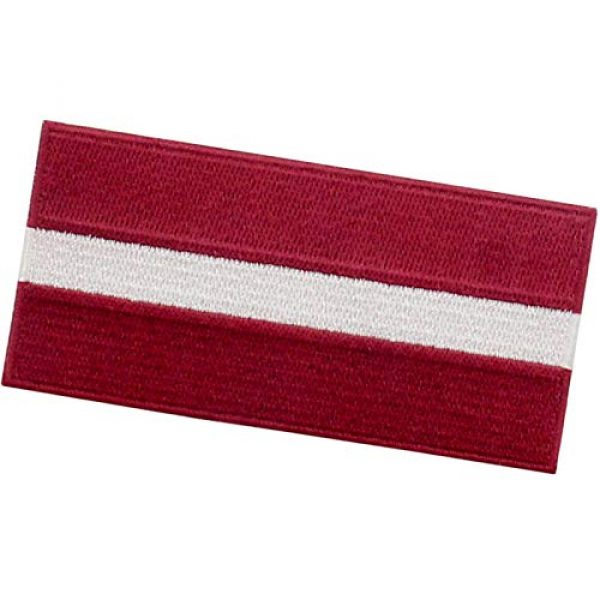 EmbTao Airsoft Morale Patch 4 EmbTao Latvia Flag Patch Embroidered National Morale Applique Iron On Sew On Latvian Emblem