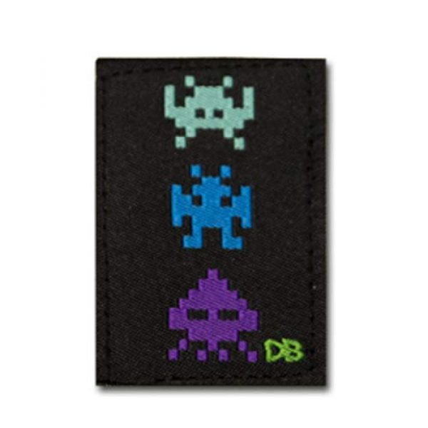 DIME BAGS Airsoft Morale Patch 3 Dime Bags Interchangeable Accessory Patches | Removable Patches for Bag Customization | Add Personality to Your Favorite Dime Bags Product - Bot, Pixel Alients, Space Gun