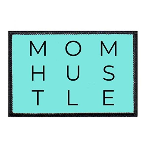 P PULLPATCH Airsoft Morale Patch 1 Mom Hustle Morale Patch | Hook and Loop Attach for Hats, Jeans, Vest, Coat | 2x3 in | by Pull Patch