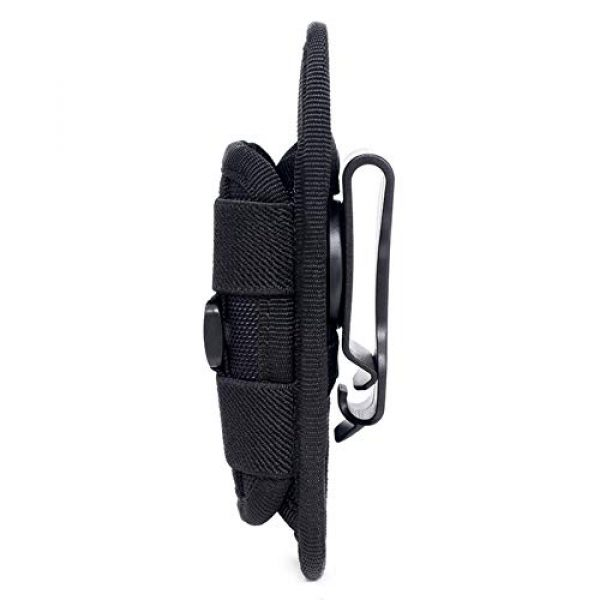 Qiaogeli Tactical Pouch 4 Qiaogeli Flashlight Pouch Holster Carry Case Holder with 360 Degrees Rotatable