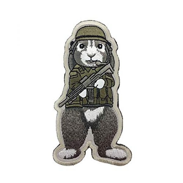 Unknown Airsoft Morale Patch 4 Patches 3D Tactical Military Rabbit Dog Embroidery Patch Morale Patches Emblem Badges Appliques Combat Embroidered Patches for Clothing - (Color: Dog)