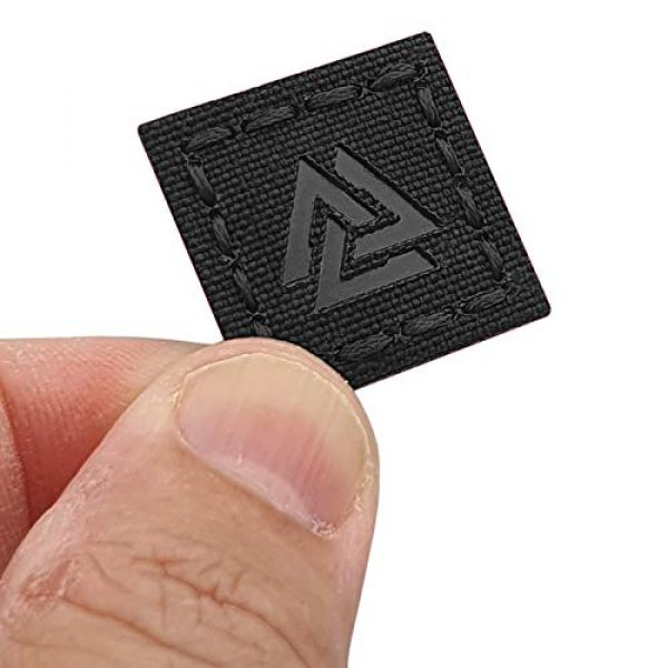 Tactical Freaky Airsoft Morale Patch 1 IR Blackout 1x1 Valknut Cat Eye Patch Viking Norse Heathen Odin Morale Tactical
