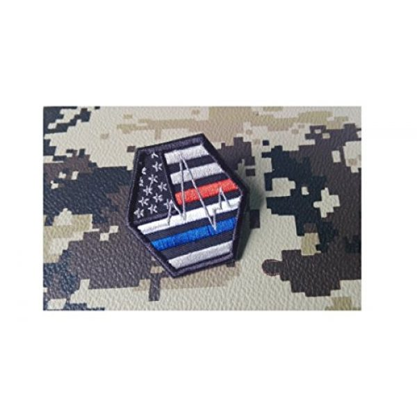 DREAM ARMY Airsoft Morale Patch 1 White EMS EMT EGK Paramedic Blue Line Red Line White Line United States Us Flag Tactical Police Morale Patch Hook Backing
