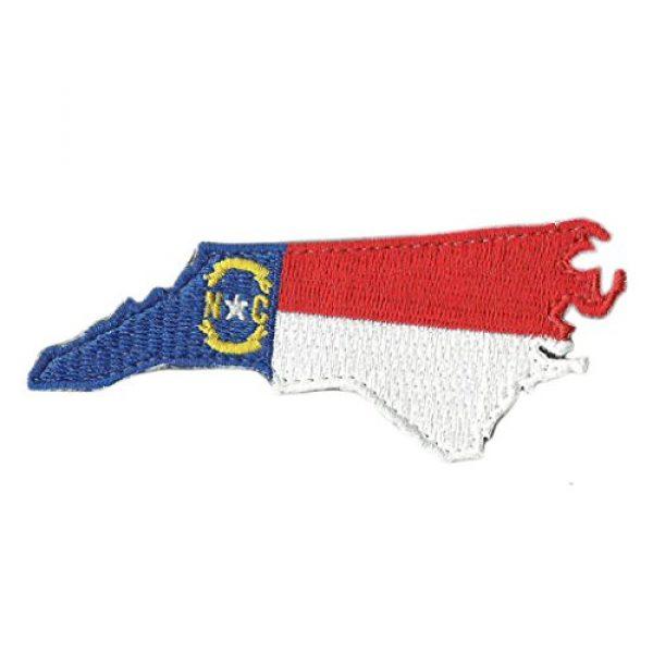 """Gadsden and Culpeper Airsoft Morale Patch 1 Die Cut North Carolina State Patch - 2"""" x 3"""""""
