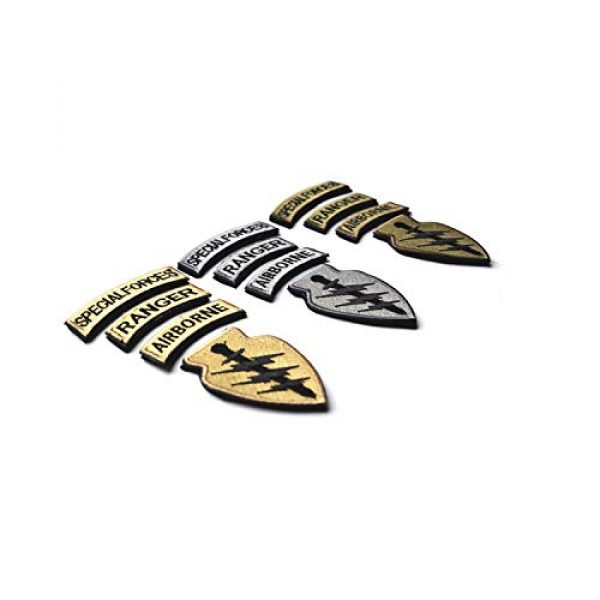 DPAINTouscap Airsoft Morale Patch 5 Special Forces Tactical Patches Embroidered Military Patch/Morale Patches
