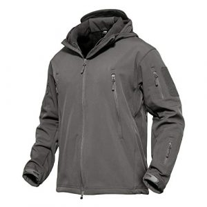 MAGCOMSEN Tactical Shirt 1 MAGCOMSEN Men's Hooded Tactical Jacket Water Resistant Soft Shell Snow Ski Winter Coats