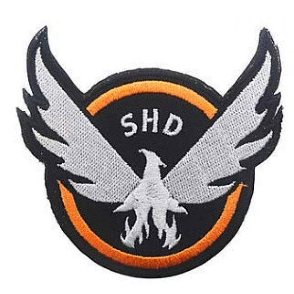 Embroidery Patch Airsoft Morale Patch 2 3 Pieces Tom Clancy's The Division Agent SHD Logo Military Hook Loop Tactics Morale Embroidered Patch (color4)