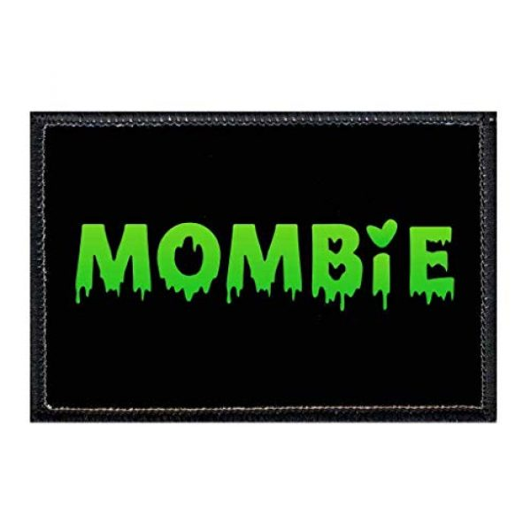 P PULLPATCH Airsoft Morale Patch 1 Mombie - Green Morale Patch   Hook and Loop Attach for Hats, Jeans, Vest, Coat   2x3 in   by Pull Patch