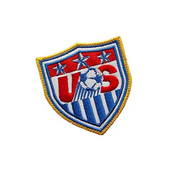 Embroidery Patch Airsoft Morale Patch 2 USA United States World Cup Football Soccer Club Team Military Hook Loop Tactics Morale Embroidered Patch