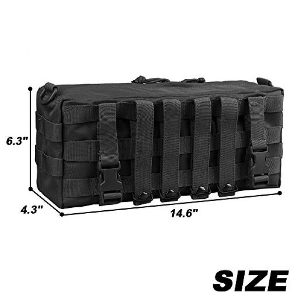 AMYIPO Tactical Pouch 2 AMYIPO Tactical Pouch Molle Admin Utility Pouches Multi-Purpose Large Capacity Increment Pouch Attachment Military Pocket Tool Holder Short Trips Bag