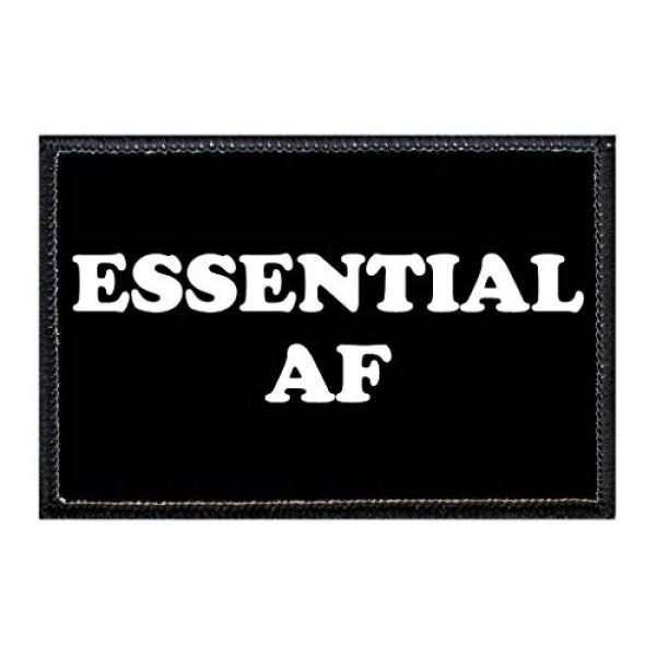 P PULLPATCH Airsoft Morale Patch 1 Essential AF | Hook and Loop Attach for Hats, Jeans, Vest, Coat | 2x3 in | by Pull Patch