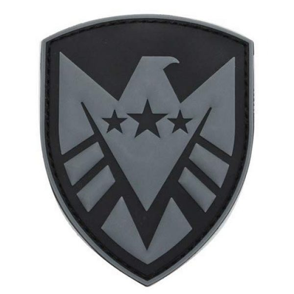 Tactical PVC Patch Airsoft Morale Patch 1 Marvel Avengers Agents of Shield Logo Morale Military Patch 3D PVC Rubber Tactical Rubber Hook Patch (Gray)