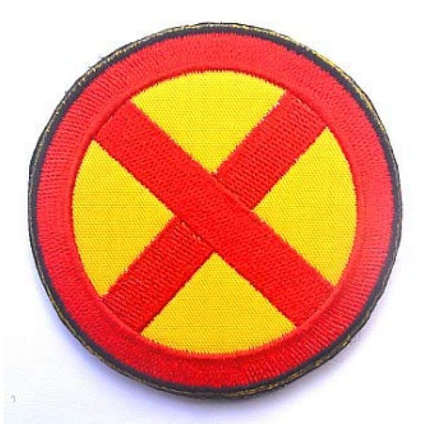 Embroidery Patch Airsoft Morale Patch 3 2 Pieces X-Men Military Hook Loop Tactics Morale Embroidered Patch (color3)