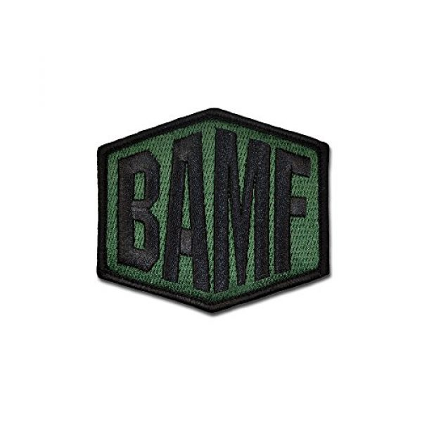 BASTION Airsoft Morale Patch 1 BASTION Morale Patches (BAMF, Colors) | 3D Embroidered Patches with Hook & Loop Fastener Backing | Well-Made Clean Stitching | Military Patches Ideal for Tactical Bag, Hats & Vest (Green)