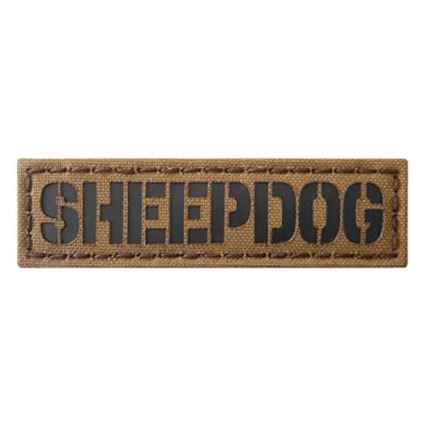 Tactical Freaky Airsoft Morale Patch 1 Sheepdog 1x3.5 Coyote Brown Tan Arid Infrared Name Tape Tab IFF Morale Hook&Loop Patch