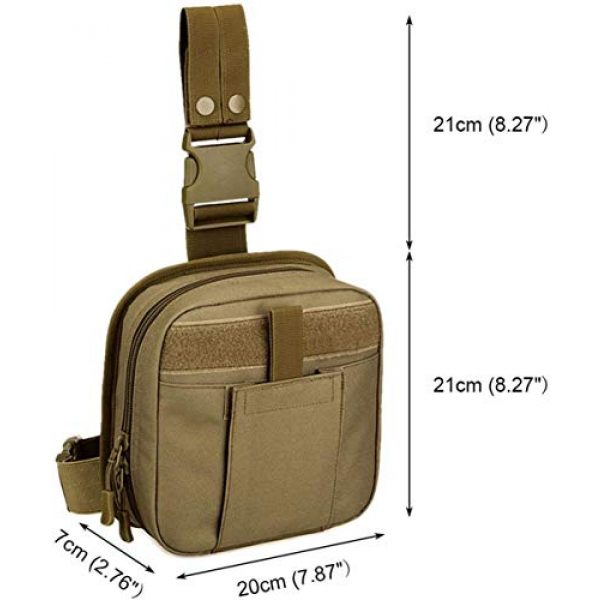 ACOMOO Tactical Pouch 3 ACOMOO Multifunctional Drop Leg Waist Bag - Tactical Thigh Brown Size No Size