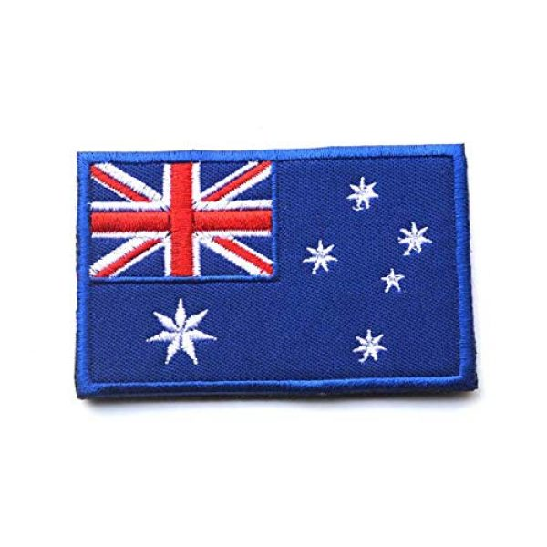 Tactical Embroidery Patch Airsoft Morale Patch 2 2pcs Australia Flag Embroidery Patch Military Tactical Morale Patch Badges Emblem Applique Hook Patches for Clothes Backpack Accessories