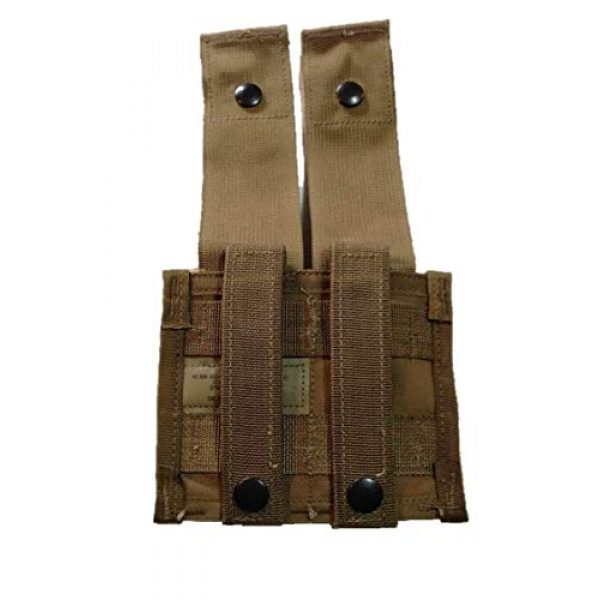 Airsoft Tactical Pouch 2 AirSoft Lot of 2 USGI Double 40MM HE High Explosive/Grenade MOLLE Pouch New Nib Coyote