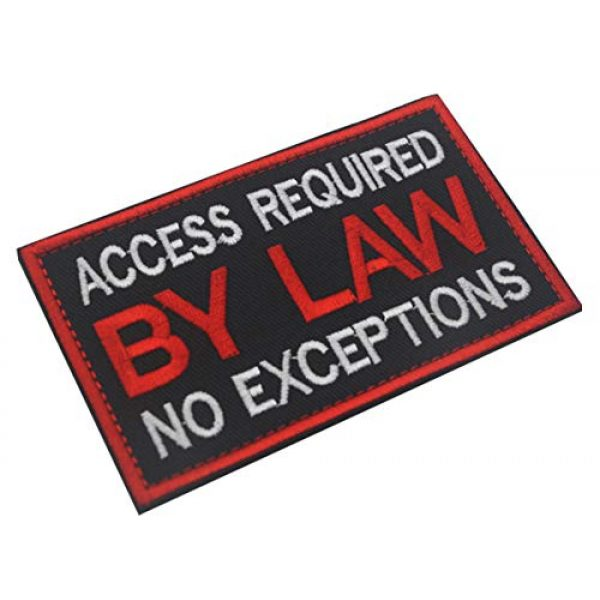 WUXL Airsoft Morale Patch 4 WUXL Patch Service Dog Access Required by Law No Exceptions Vests/Harnesses Emblem Embroidered Fastener Hook & Loop PatchService Dog -by Law