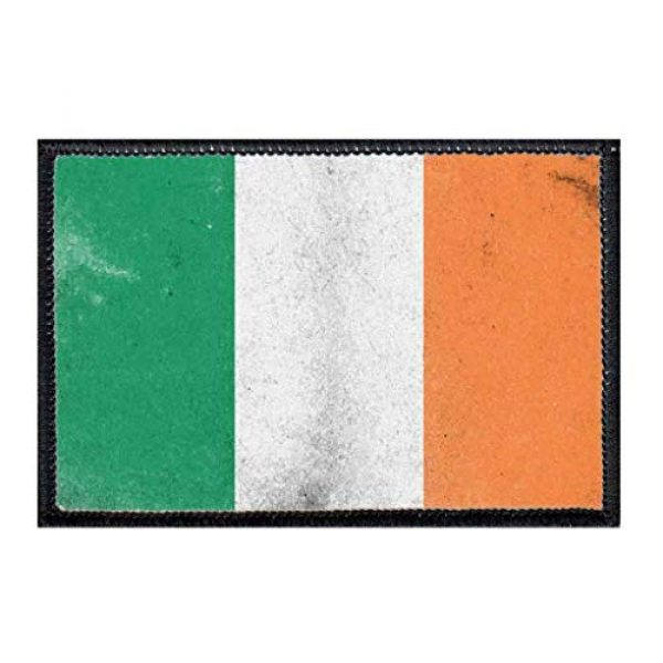 P PULLPATCH Airsoft Morale Patch 1 Ireland Flag Distressed Morale Patch   Hook and Loop Attach for Hats, Jeans, Vest, Coat   2x3 in   by Pull Patch