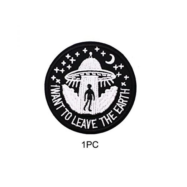 U-Sky Airsoft Morale Patch 5 U-Sky Sew or Iron on Patches - I Want to Leave - Pack of 2 Different Design
