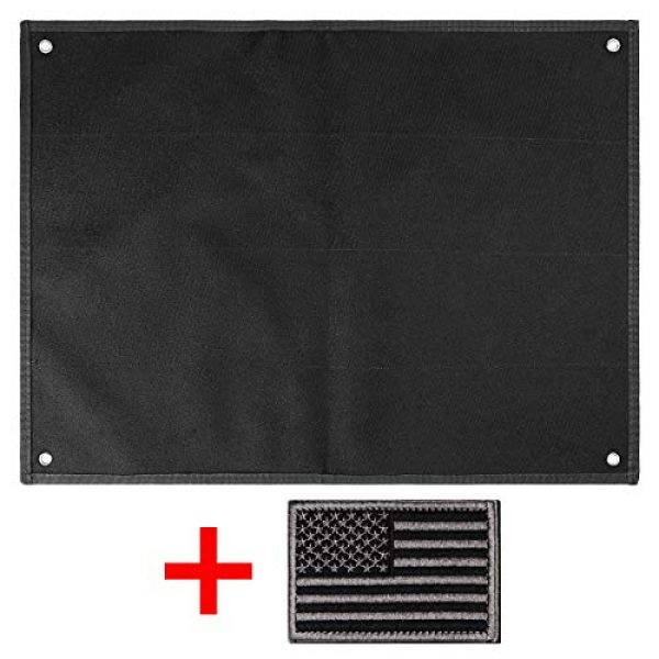 IronSeals Airsoft Morale Patch 7 IronSeals Tactical Board Patch Organizer Holder Display with Loop Surface, Steel Ring and Flag Patch