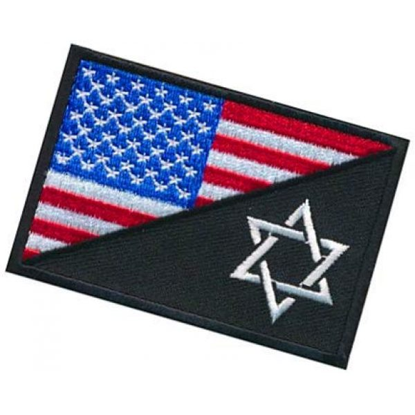 Embroidery Patch Airsoft Morale Patch 3 USA Flag Jewish Star of David Military Hook Loop Tactics Morale Embroidered Patch