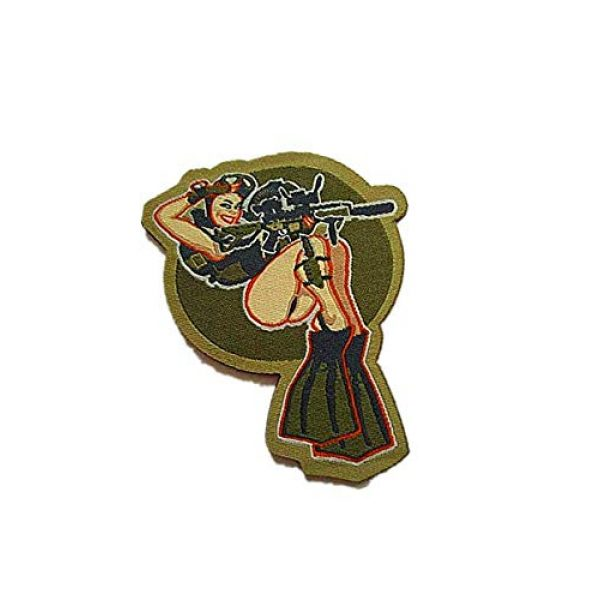 Embroidery Patch Airsoft Morale Patch 2 Dive Girl Pinup Marine Military Hook Loop Tactics Morale Embroidered Patch