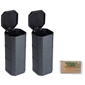 Nimrod's Wares Tactical Pouch 1 Nimrod's Wares Two Magpul DAKA Storage Cans Glasses Tools Ammo MAG1028-GRY Bundle Microfiber Cloth