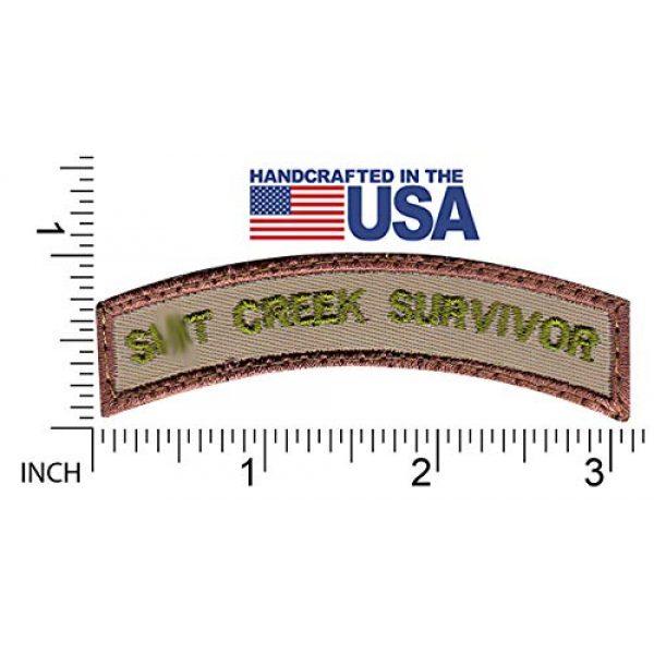 Tactical Patch Works Airsoft Morale Patch 2 Sh-t Creek Survivor Rocker Patch