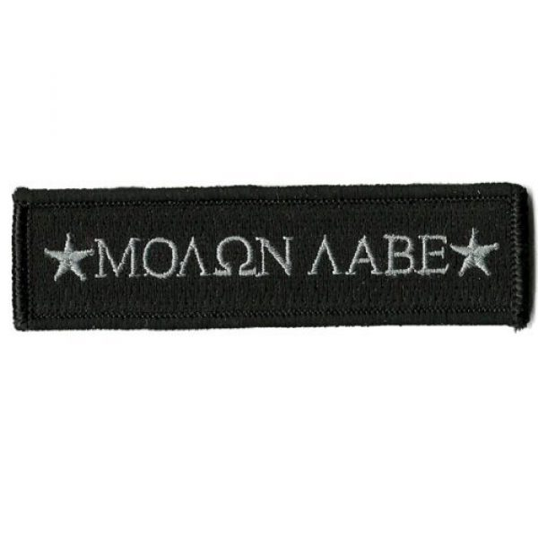 Gadsden and Culpeper Airsoft Morale Patch 1 Molon Labe Morale Tactical Patch - Black by Gadsden and Culpeper
