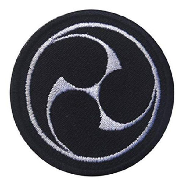 Embroidered Patch Airsoft Morale Patch 3 2pc Japanese Ninja Throw Style 3D Tactical Patch Military Embroidered Morale Tags Badge Embroidered Patch DIY Applique Shoulder Patch Embroidery Gift Patch