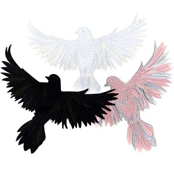 ZLYY Airsoft Morale Patch 1 Perfect Morale Eagle Embroidery Patch Design Jacket Patches Biker Iron Patch (Pink,White,Black)