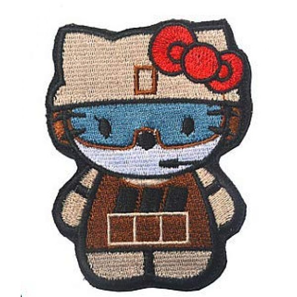 Embroidery Patch Airsoft Morale Patch 1 Hello Kitty As Army Soldier Military Hook Loop Tactics Morale Embroidered Patch