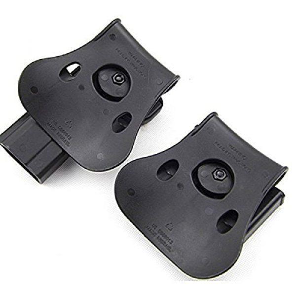 AUKMONT Tactical Pouch 4 AUKMONT Tactical Retention Roto Paddle Holster & Double Magazine Pouch for PT1911