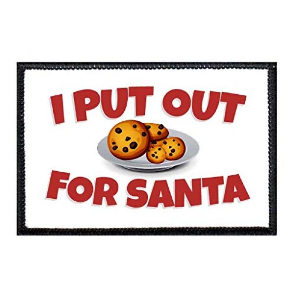 P PULLPATCH Airsoft Morale Patch 1 I Put Out for Santa Morale Patch   Hook and Loop Attach for Hats, Jeans, Vest, Coat   2x3 in   by Pull Patch
