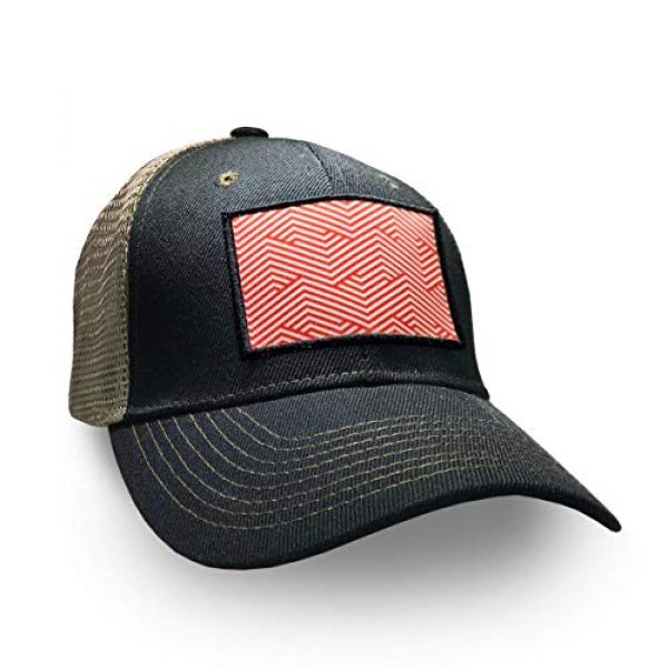 8.50011E+11 Airsoft Morale Patch 3 00850010526157 5Head Hat Company Illusionist Printed Velcro Patch Red