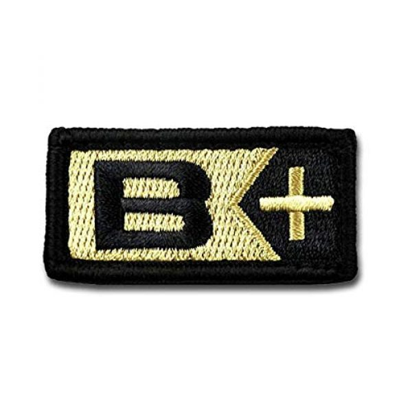 BASTION Airsoft Morale Patch 1 BASTION Morale Patches (Blood Type B Pos, ACU)   3D Embroidered Patches with Hook & Loop Fastener Backing   Well-Made Clean Stitching   Military Patches for Tactical Bag, Hats & Vest